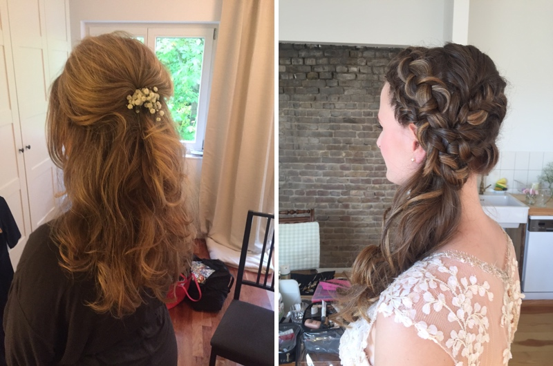 Bräute - Bridal Style 2016 with Braids and open hair from Make up Artist Anja Frankenhäuser.