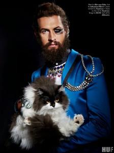 Cat Power with distinguished looking Alek -  Schminktante Foto-Editorial New York HUF Magazine