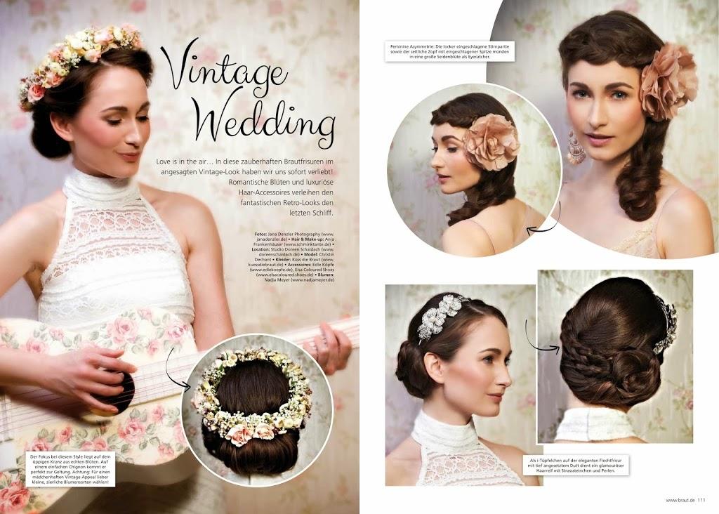 Vintage Wedding Editorial zum Thema Brautfrisur - Haarschmuck und Steckfrisuren