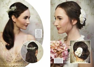 Vintage Wedding Editorial zum Thema Brautfrisur - offenes Haar und Knoten