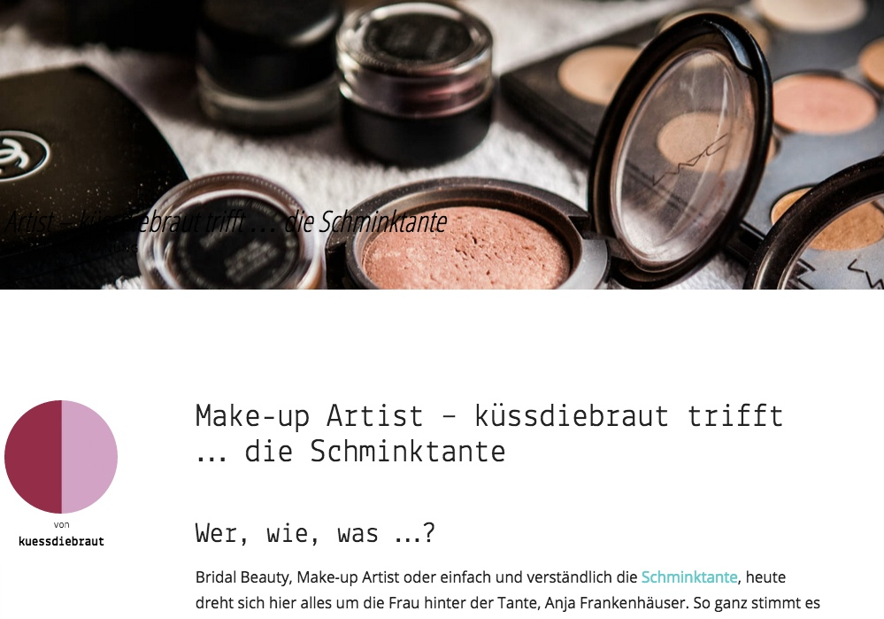 küssdiebraut, lindegger, brautmode, brautstyling, make up artist, schminktante, Presse, PR, Bloginterview, Interview