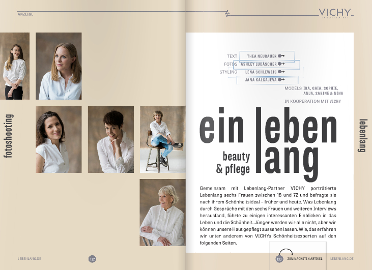lebenlang magazin - die schminktante in der Presse, Presse, PR, Schminktante, Magazin, Interview, Make up Artist,