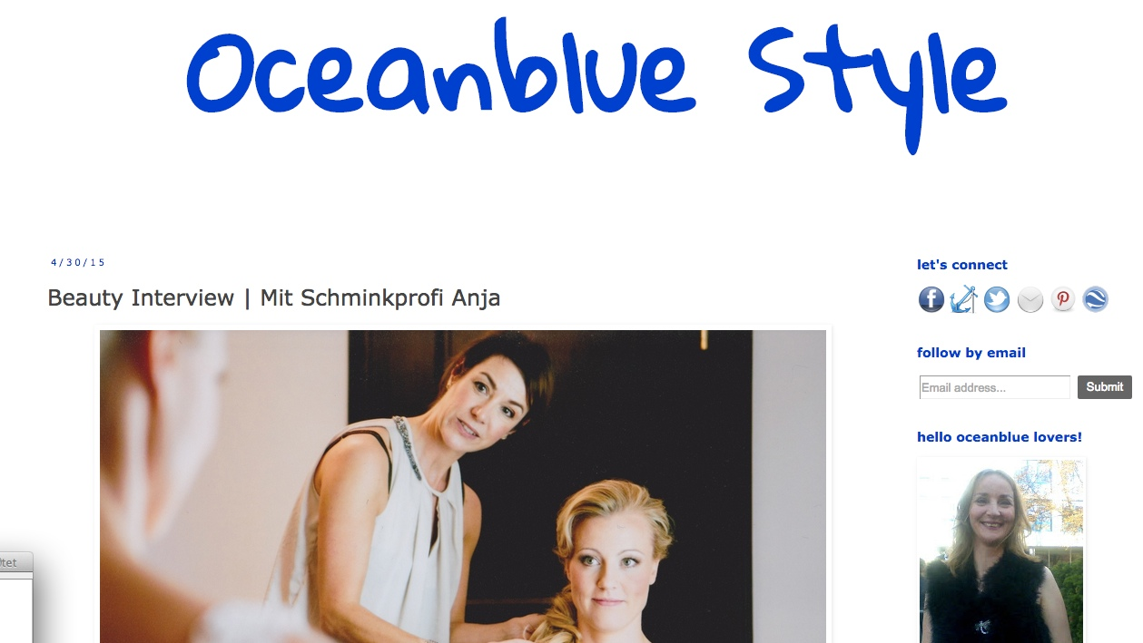 oceanbluestyle, Interview, Bloginterview, Presse, PR, Schminktante