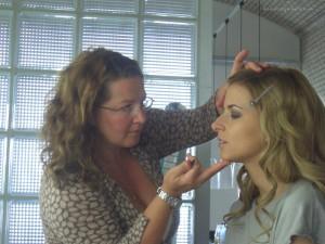 Make up Artist Serena Goldenbaum im Einsatz