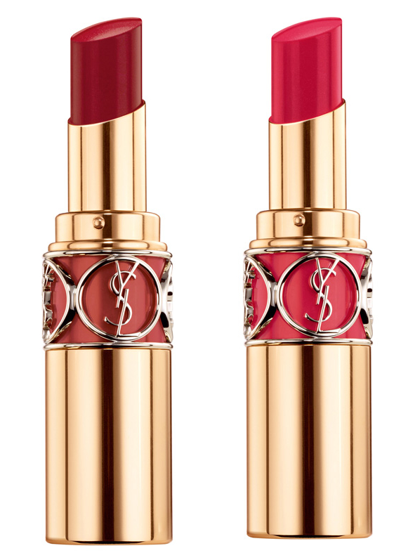 Rouge Volupté Shine, 29-Amber Indecent, 28-Rose Intime, je 34€