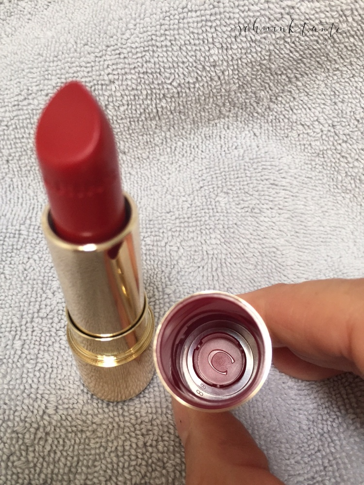 Lippenstift, Clarins, Joli Rouge, rote Lippen, Rot