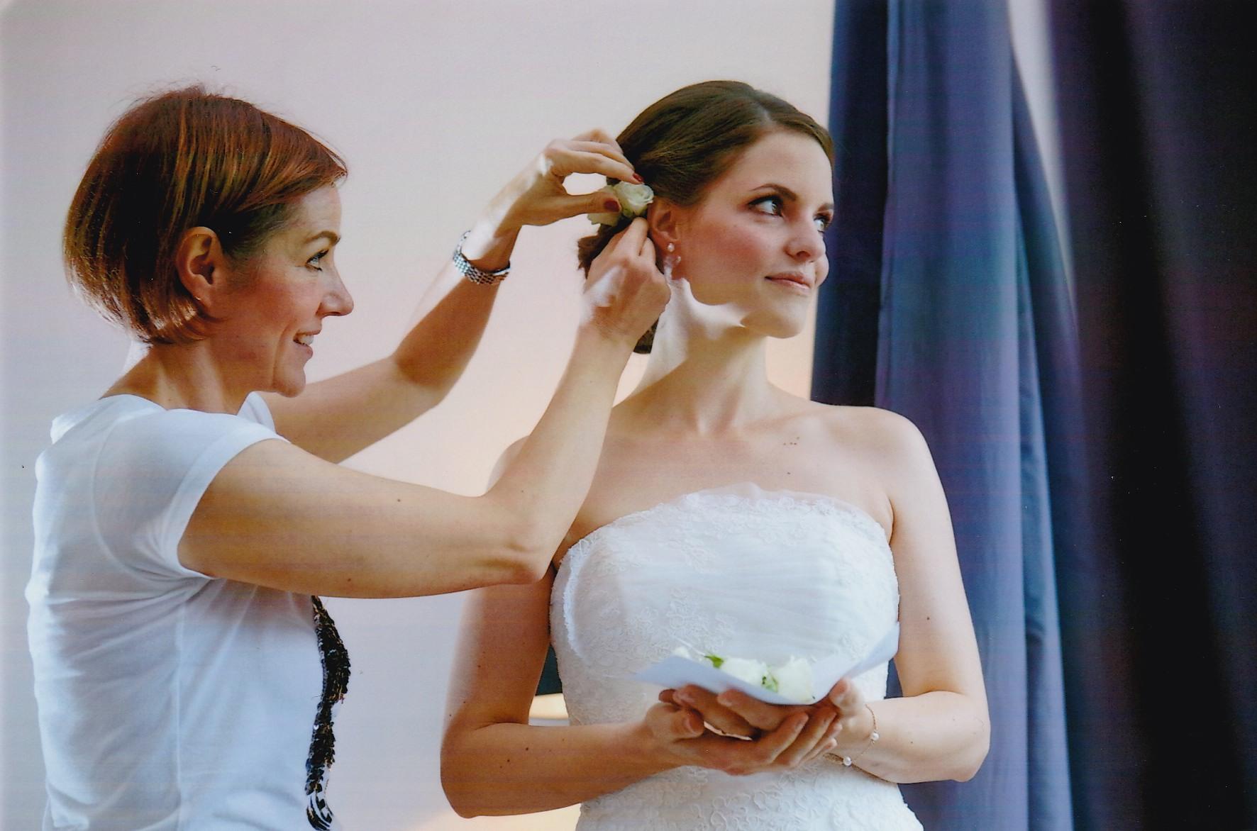 Hochzeit, Brautstyling, Brautfrisur