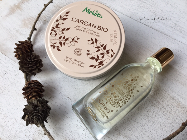 Körperpflege für trockene Winterhaut, Melvita Huile Extraordinaire, Körperbutter