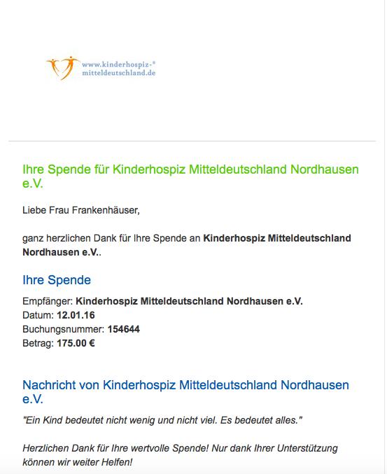 Spende, Kinderhospiz Mitteldeutschland