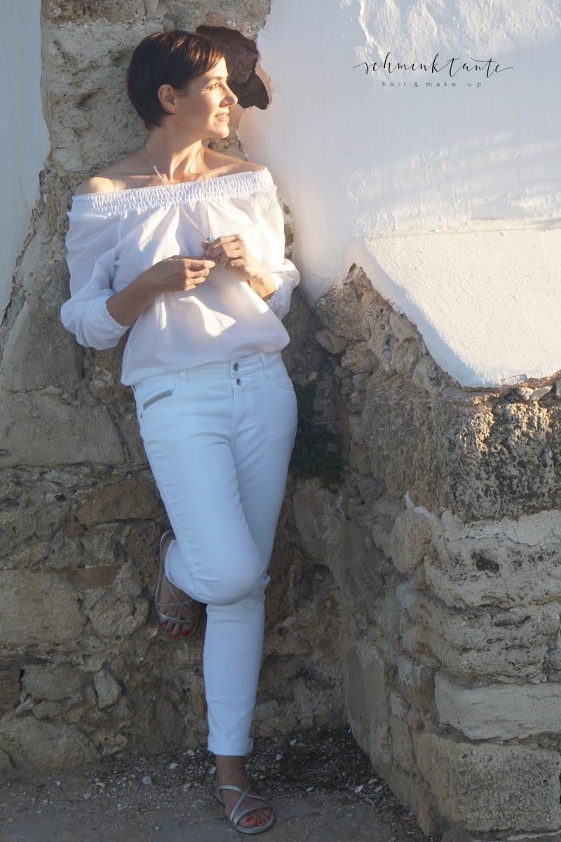 Tchibo, weiß, Mode, Bluse, Jeans