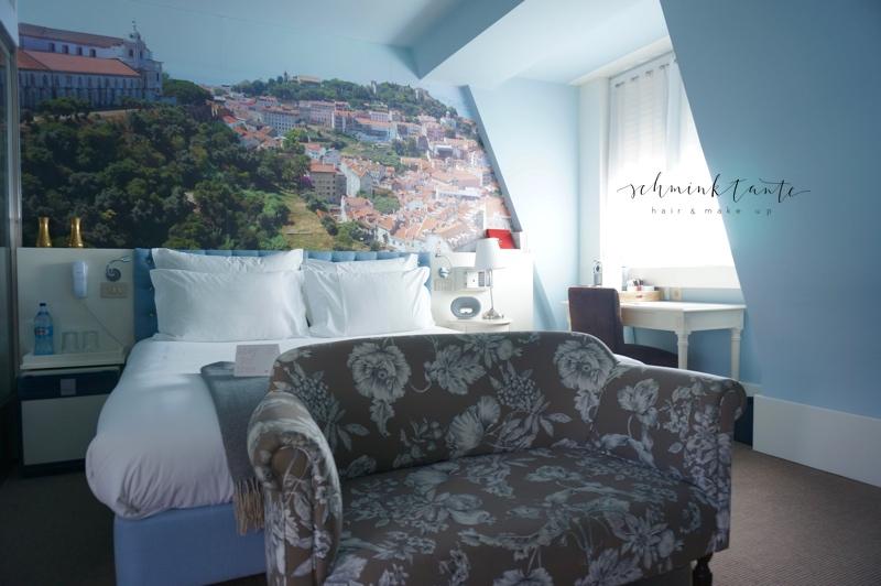 Hotel, LX Boutique Hotel, Bett, blau, Sofa, Raum, Einrichtung, Lissabon, Reisen