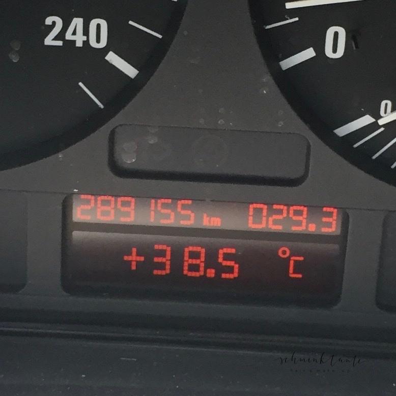 Hitze, Temperatur, Hitzewelle, Schminktante, Anzeige, Skala, 38 °C