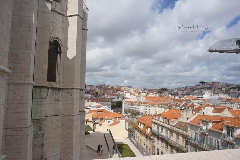 Igreja do Carmo, Kirche, Architektur, Ausblick, Dächer, Lissabon, Schminktante, Topblog