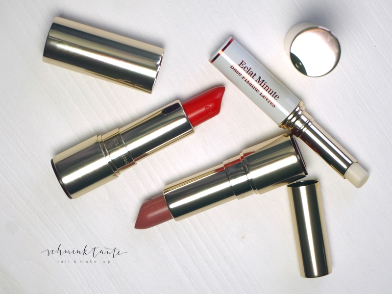 "Joli Rouge Brillant, Tea Rose, rot, Lippenstift, Glanz, Clarins, ""Sunkissed"", Schminken, Make up, Gruppenbild, Produkte,"