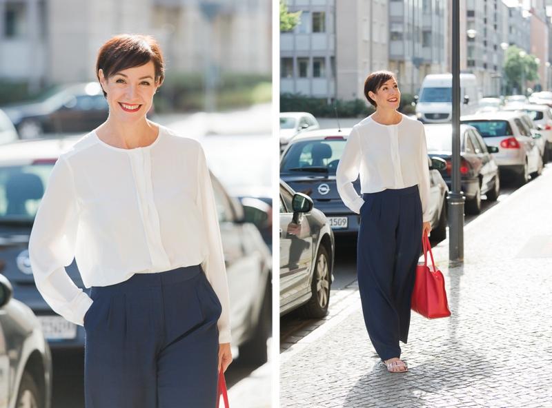 Elegantes Outfit mit Marlenehose.