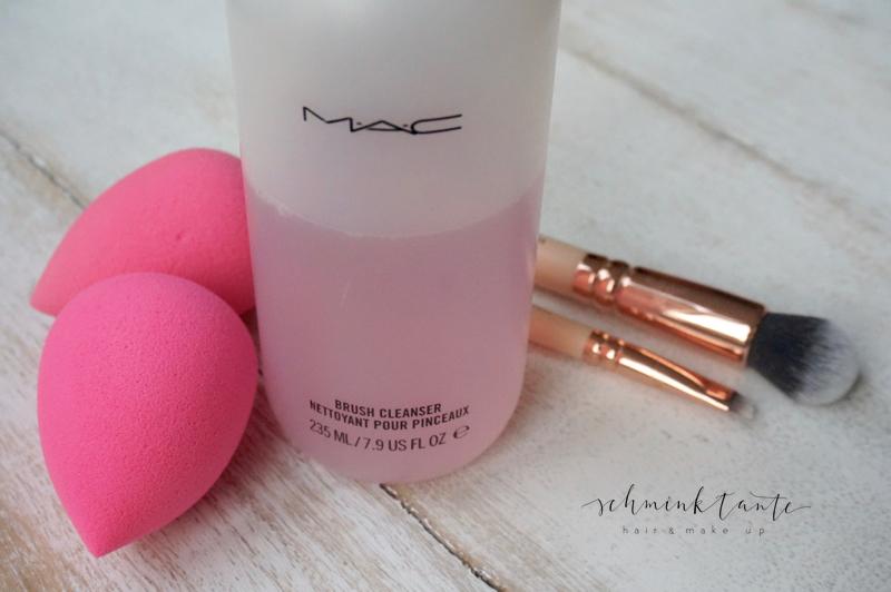 Pinselreiniger, rosa, MAC, Pinsel, Flasche, Schminktante