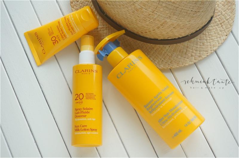 Clarins, Sonnenschutz, Hautschutz, Haut, Sommer, Sonnencreme, LSF, UVA, UVB, Sunscreen, UV-Schutz, Schminktante, Beautyblog, Ü40Blog