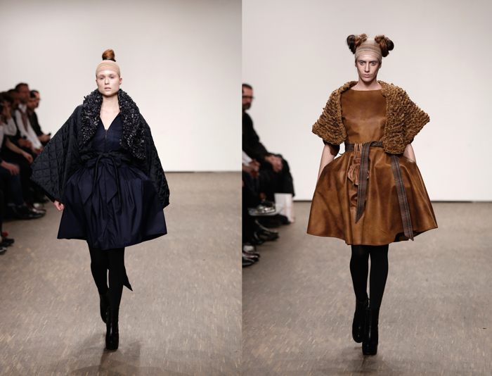 BERLIN, GERMANY - JANUARY 20: A model poses at the I'Vr Isabel Vollrath show during the Mercedes-Benz Fashion Week Berlin Autumn/Winter 2016 at Stage at me Collectors Room on January 20, 2016 in Berlin, Germany. (Photo by John Phillips/Getty Images for IMG)