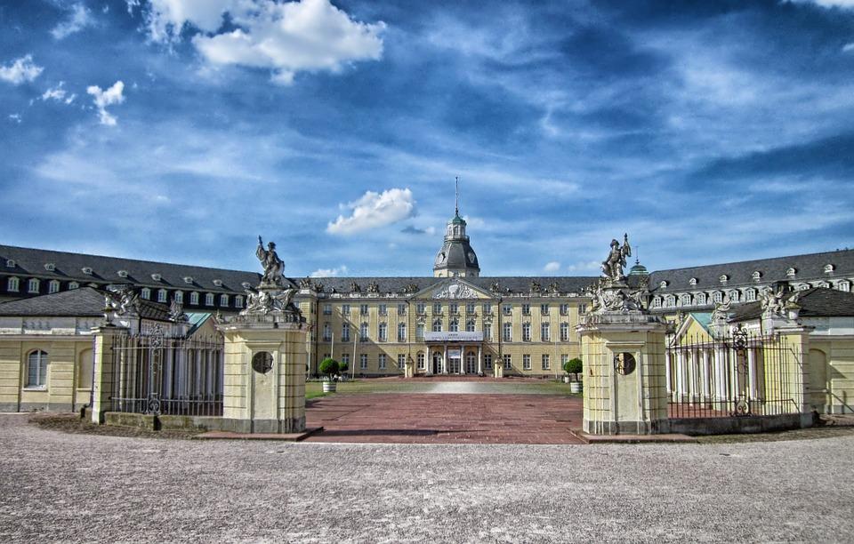 Schloss in Karlsruhe.